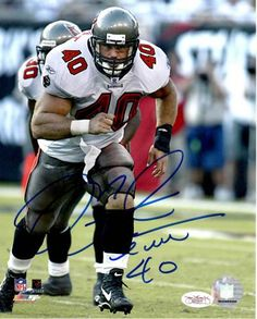 Mike Alstott Signed 8x10 Photo - JSA #SportsMemorabilia #TampaBayBuccaneers
