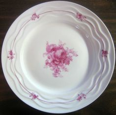 Decorative Dishes - Fuschia Rose Fine White Porcelain Wavy Edge Plate Portugal, $34.99 (http://www.decorativedishes.net/fuschia-rose-fine-white-porcelain-wavy-edge-plate-portugal/)