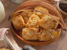 Salt and Pepper Biscuits with Bacon Butter Recipe | Nancy Fuller | Food Network