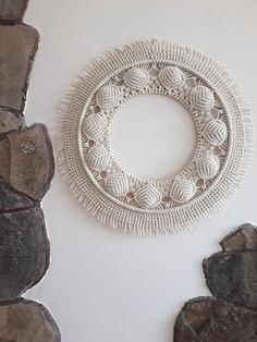 ] Macrame Wall Hanging with Mirror Handmade with Cotton Rope/ Round macrame/ Macrame Wall Decor/ Macrame Mirror, Macrame Art, Macrame Bracelet Diy, Macrame Knots, How To Do Macrame, Diy Dream Catcher Tutorial, Macrame Design, Polymer Clay Charms, Macrame Patterns