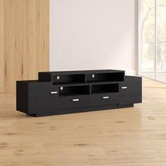 Wade Logan Aston Cabinet TV Stand for TVs up to 78 inches , Small Space Living Room, Living Room Tv, Tv Unit Furniture, Furniture Design, Furniture Projects, Furniture Makeover, Furniture Decor, Modern Furniture, Diy Furniture Arrangement