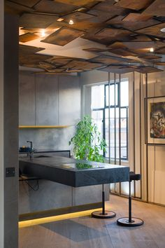 Art Gallery and Living Space Merged Using a Rebellious Design Scheme