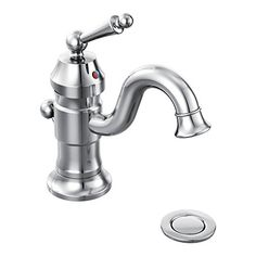 Bathroom Faucets DIY   Moen S411 Waterhill OneHandle High Arc Bathroom Faucet Chrome ** Learn more by visiting the image link. Note:It is Affiliate Link to Amazon.