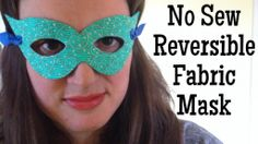 No Sew Reversible Fabric Mask - great project for a superhero birthday party!