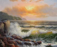 Cheap painting tires, Buy Quality paintings of black women directly from China painting apron Suppliers: Hand Painted Impressionist Oil Painting Seascape Waves No.5 Home Decoration Wall Art Drop Shipping Modern Contemporary O