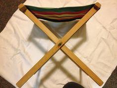 Vintage camping stool Colors still vibrant by FarmFreshTreasures, $25.00