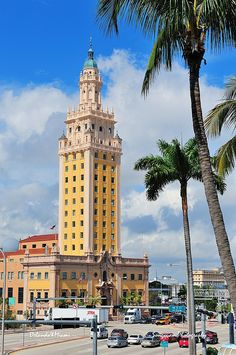 Freedom Tower in downtown Miami, Florida. As a memorial to Cuban immigration and Miami city landmark, it is declared as US National Historic Landmark in 2008. (Miami, Florida)