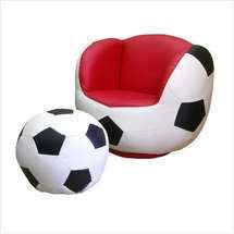 shop for a sport soccer chair and ottoman at rooms to go kids
