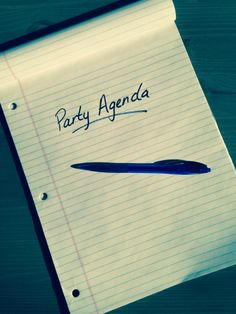 Creating Your Party Agenda | Shot In The Dark Mysteries Dinner Party Murder Mystery Games