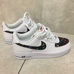 half off ea2c6 65764 Custom Nike Air Force 1 Low   Black Multi L0U
