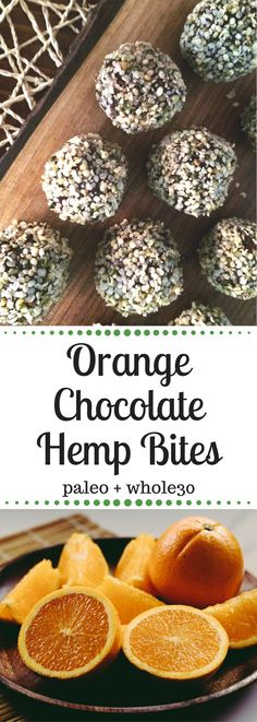 These Orange Chocolate Hemp Bites are Paleo and compliant and tastes like a cross between a tootsie roll and a Nakd bar! With all natural ingredients, these bites are a great snack for busy adults and kids alike! Paleo Recipes, Real Food Recipes, Snack Recipes, Yummy Food, Delicious Dishes, Pizza Recipes, Free Recipes, Whole 30 Snacks, Whole 30 Recipes
