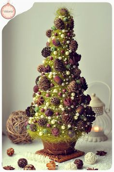"Christmas tree ""Cones olives"""