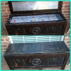 Ice chest in a bench Patio Ideas, Outdoor Ideas, Ice Chest Cooler, Storage Chest, Projects To Try, Bench, Outdoors, Garden, Summer