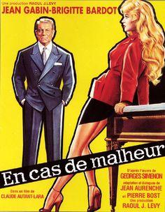 En cas de malheur est un film franco-italien réalisé par Claude Autant-Lara, sorti le 17 septembre 1958. Le film a été nommé pour le lion d'or au festival Mostra de Venise en 1958. En 1957 à Paris, la belle mais naïve Yvette Maudet, tapineuse occasionnelle de 22 ans, assomme l'épouse d'un horloger qu'elle tente de dévaliser. Me André Gobillot, avocat quinquagénaire, accepte de la défendre et en tombe amoureux.
