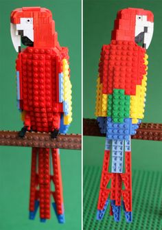 — Tropical Lego birds by Tom Poulsom.