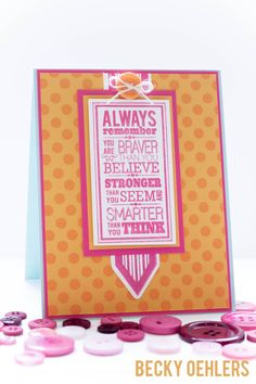 Poster Board Sentiments and Lots of Dots Gina K Designs