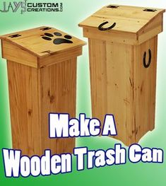Free DIY Project Plan: Learn How to Make a Wooden Trash Can (helps keep dumpster divers at bay)