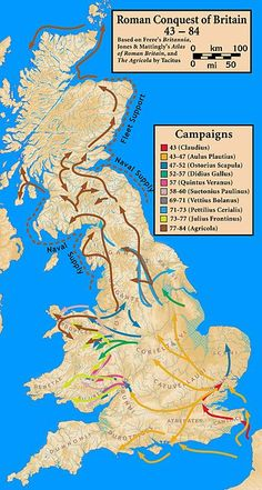 Roman conquest of Britain - Wikipedia, the free encyclopedia 43 AD