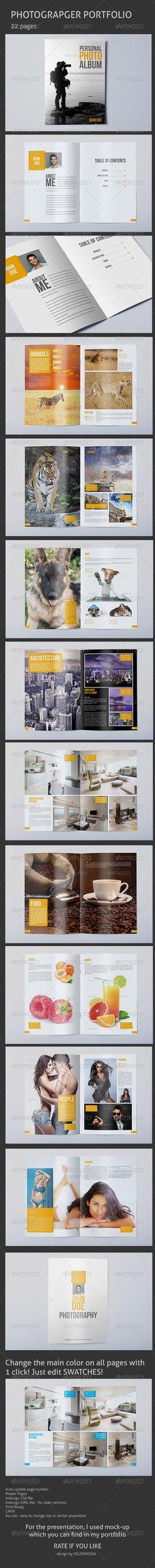 Print Templates - Photographer Portfolio / Album | GraphicRiver