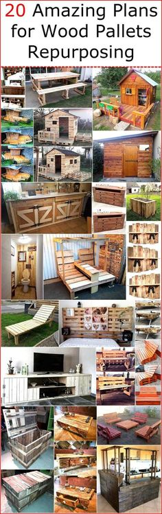 Decorating a home is one way of impressing others or showing the creativity and the availability of the wood pallets enable a person to show the skill gifted by GOD as he/she can restyle the pallets into different designs according to the image that comes in his/her mind. It is not difficult to modify the pallets and they can be used with their original color because they don't give a weird look if they are not painted. Here we are going to show you 20 amazing ideas and plans for wood…