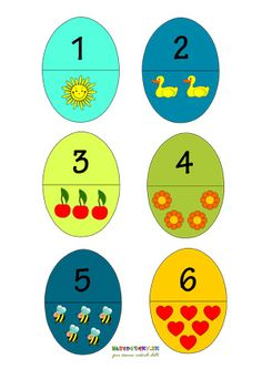 Veľkonočné vajíčka - počítame a priraďujeme čísla