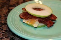 apple, bacon cheese sandwich