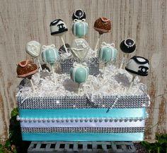 Diva Cake Pops - Designer Purse Cake Pops - Tiffany Inspired - Diva Bridal Shower - Fashion Party Favors