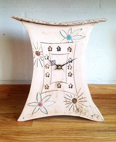 Large handmade ceramic clock by Iveta Goddard