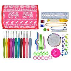 8 Pcs Rubber Handle Aluminum Head Knitting Needle Crochet Hooks Kit4.49