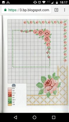 Cross Stitch Flowers, Cross Stitch Patterns, Diamond Paint, Hand Embroidery, Machine Embroidery, Embroidery Designs, Plastic Canvas, Le Point, Needlepoint