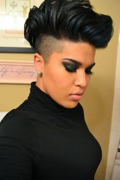 graduated bob with undercut, this look
