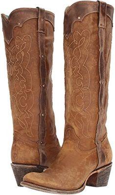 Reba by Justin Chelsea Wing Embroidery Motif Block Heel Boots AhNJjiTW01