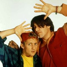 """vintagesalt: """"Bill & Ted's Bogus Journey """" Winter Club, Alex Winter, Winter Images, Winter Photos, Superhero Tshirt, The Lost Boys 1987, Love My Boys, Character Names, Keanu Reeves"""