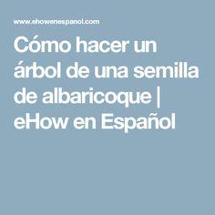 Cómo hacer un árbol de una semilla de albaricoque | eHow en Español