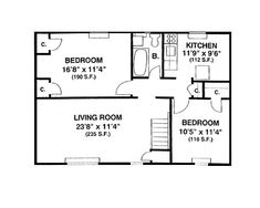 700 square foot house plans google search floor plans for Floor plans 700 square foot apartment
