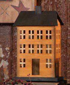 primitive mustard saltbox house primitive mustard house box size 5 w x ...