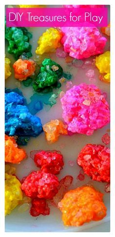 Make jewels and gems using just 3 ingredients! Use in play or learning. Fun for kids!