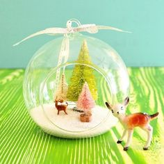 Make It: DIY Christmas Hanging Terrariums
