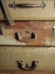 old but still cherished...vintage luggage