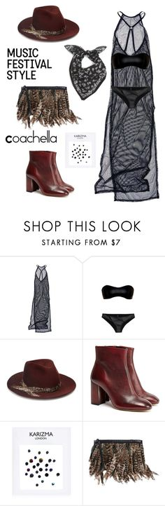"""""""Untitled #135"""" by chelsy-rivera ❤ liked on Polyvore featuring Current Mood, Lisa Marie Fernandez, Eugenia Kim, Gestuz, Forever 21, Roberto Cavalli and rag & bone"""