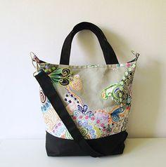 Canvas Tote bag, School bag, Beach bag, Diaper bag, Crossbody