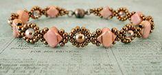 Linda's Crafty Inspirations: Bracelet of the Day: Cindy Bracelet - Alabaster Rose Red