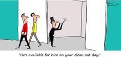 If only it were that easy! #FunnyFridays #cartoon #cleaning #selfstorage
