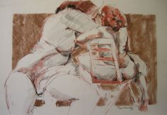 Two poses by Lorna Panzenbock