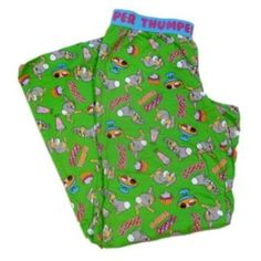 Disney Juniors Womens Green Thumper PJs Rabbit Pajama Bottoms Lounge Pants Bambi Disney. $16.99