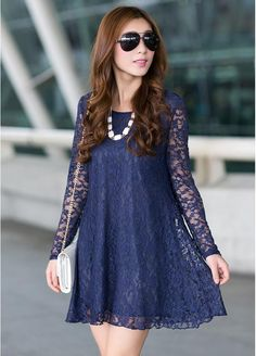 Cheap Dresses, Buy Directly from China Suppliers: 2015 vestido Hot Sale Women Sexy Neck Slim tight package hip Sleeve shirt sexy lace long-sleeved blouse P Plus Size Lace Dress, Lace Dress With Sleeves, Long Sleeve Mini Dress, The Dress, Sleeved Dress, Casual Maternity Dress, Daily Dress, Sexy Shirts, Cheap Dresses