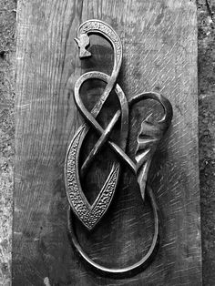Hand forged, Celtic dragon series by Swann Forge http://swannforge.co.uk/