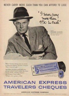 The great Richard Widmark for Amex.