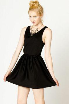 Sleeveless Audrey Dress in Black