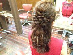 #ヘアアレンジ#ヘアスタイル#ヘアセット#アップスタイル#ハーフアップ #ヘアアレンジ解説#ヘアアレンジやり方#簡単アレンジ #ブライダルヘア#ウェディングヘア #arrange#hairdo#wedding#bridal#braid#hair